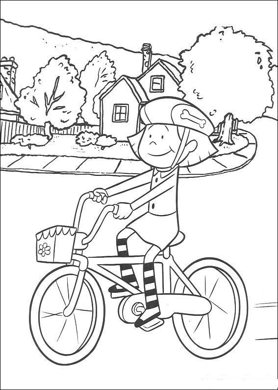 Кататься на велосипеде раскраска